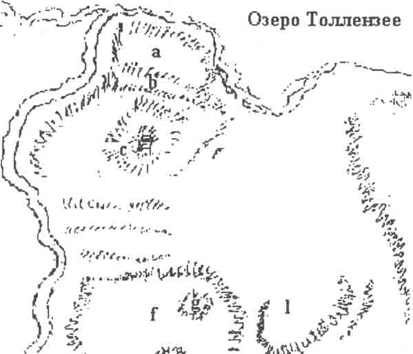 Расположение деревушки Прильвиц на Толлензее