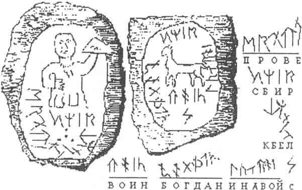 Чтение Пшиборовским надписей на Микоржинских камнях