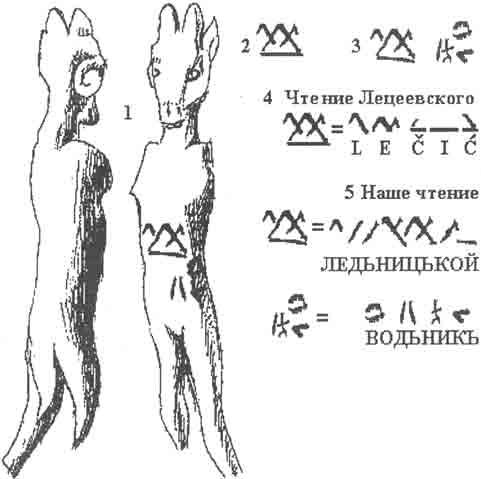Фигурка козлика и надпись на ней